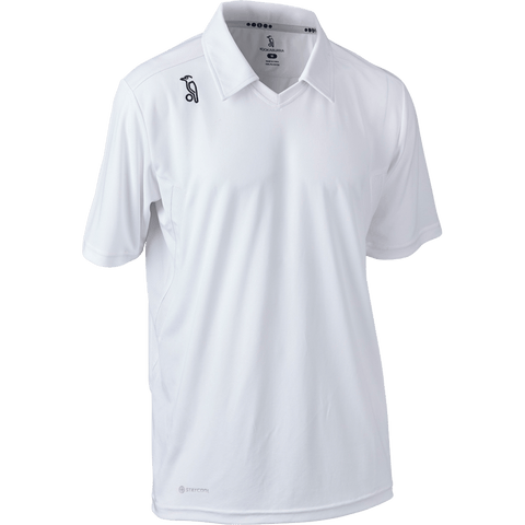 Kookaburra KB Players SS Cricket Shirt Kids - White - GoSport Online
