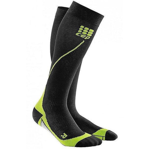 CEP Compression Run Socks 2.0 Men - Black/Green - GoSport Online