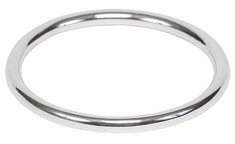 Silver Hollow Bangle