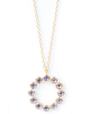 Amethyst 12 Stone Vermeil Necklace
