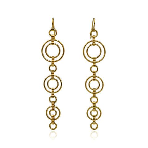 Vermeil Catena  Large Drop Earrings