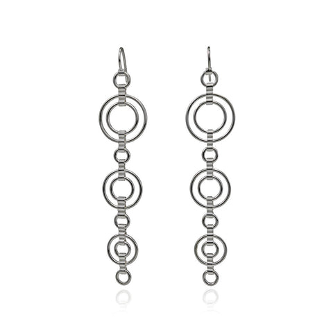 Sterling Silver Catena Large Drop Earrings