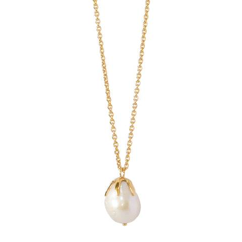 "Baroque Large Pearl Necklace on a 30"" Chain (NEW)"
