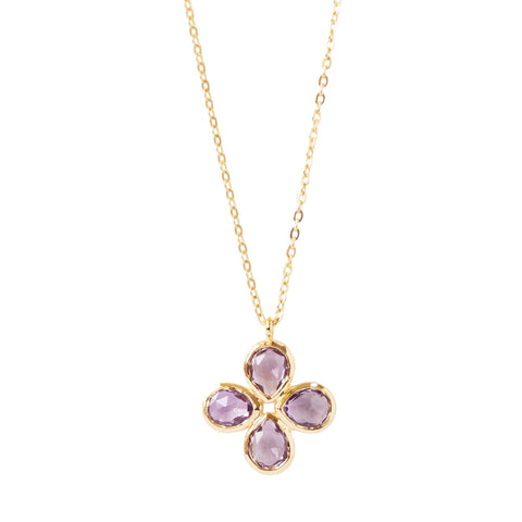 Amethyst Vermeil Flower Necklace (New)