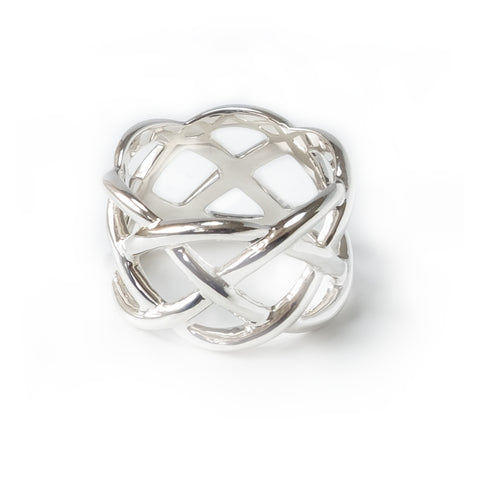 Sterling Silver Basket Weave Ring (New)