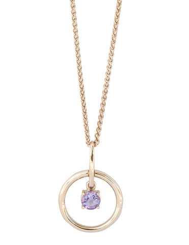 Amethyst Gold Vermeil Circle Necklace