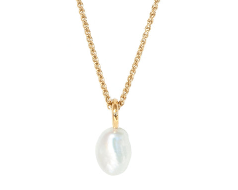 "Baroque Pearl Necklace on 18"" Vermeil Chain"