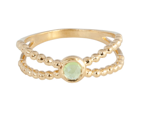 Vermeil Twin Band Peridot Ring