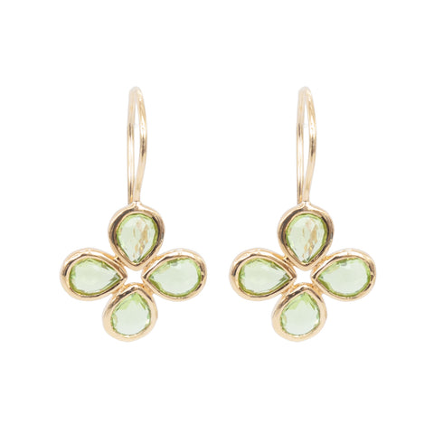 Peridot Vermeil Flower Earrings