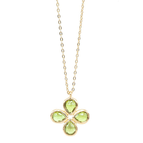 Peridot Vermeil Flower Necklace