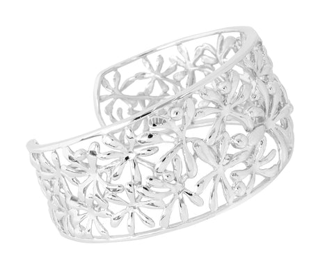Sterling Silver Large Flower Cuff (NEW)