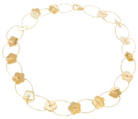 Gold Vermeil Multi-Flower Loop Necklace (NEW)