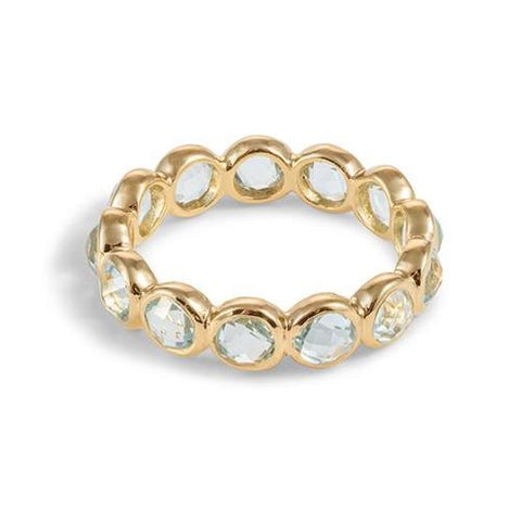 12 Stone Vermeil Ring in Blue Topaz