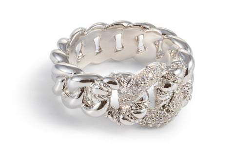White Sapphire Knot Ring