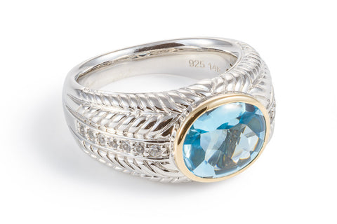 Blue Topaz Sumptuous Oval Ring