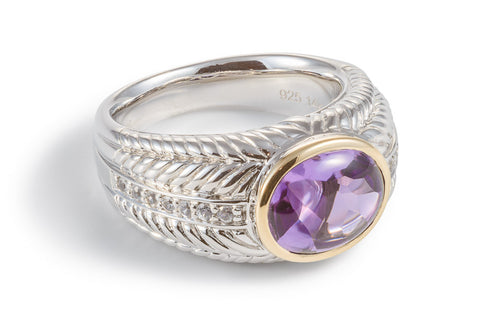 Amethyst Sumptuous Oval Ring