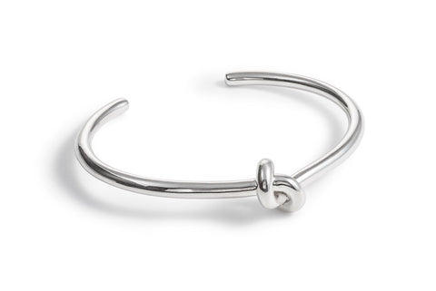 Silver Bangle with Knot