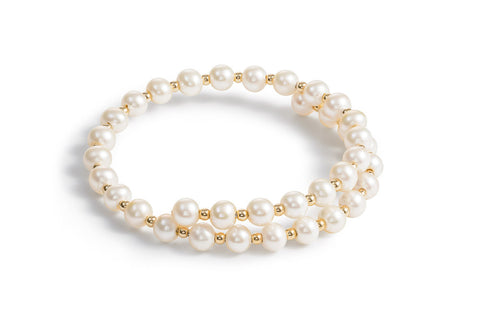 Gold 14ct Small Pearl Bracelet
