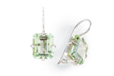 Green Amethyst Rectangular Hook Earrings