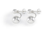 Silver Double Ball Earrings