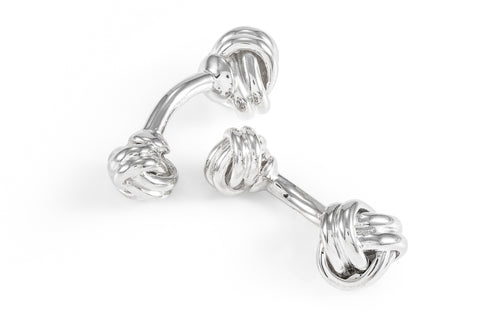 Silver Knotted Cufflinks
