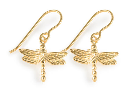 Vermeil Dragonfly Earrings