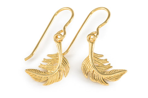 Vermeil Feather Earrings