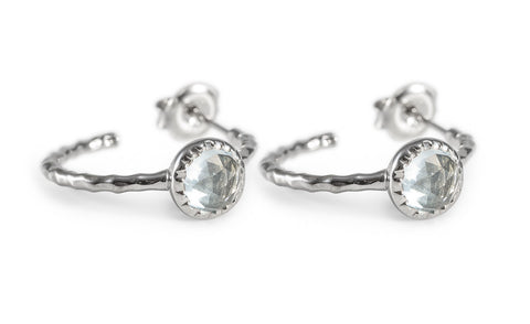Sky Blue Topaz One Stone Hoop Earring