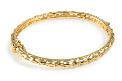 Gold Vermeil & Sterling Silver Side Opening Bangles