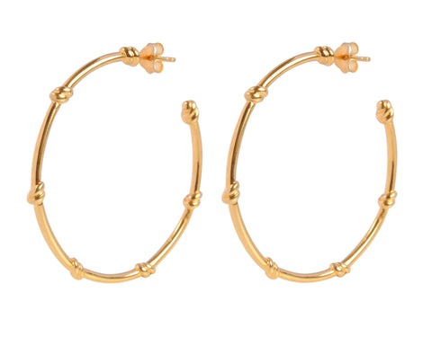 Large Hoop Knot Vermeil Earrings