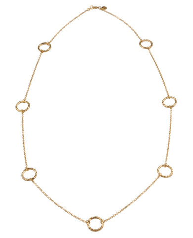 Seven Ring Vermeil Necklace