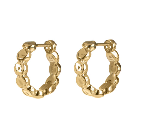 Wave Shaped Vermeil Hoop Earrings