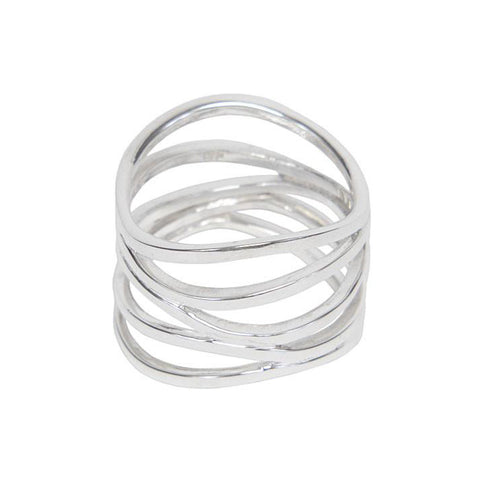 Sterling Silver Five Strand Ring