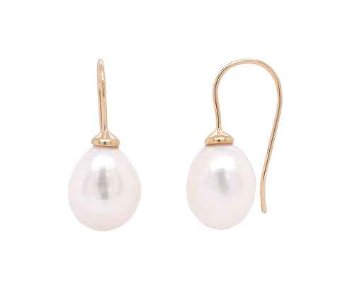 Baroque Pearl Hook Earrings 'new version'