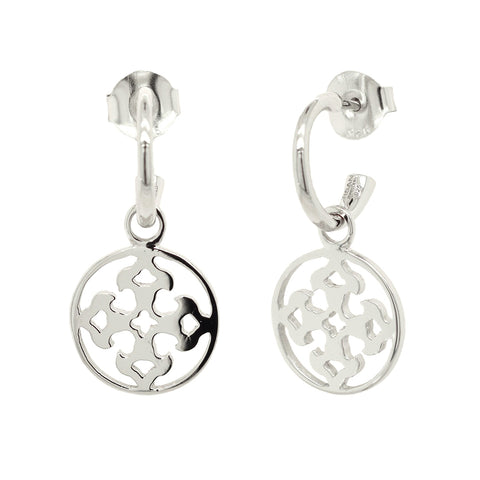 Sterling Silver Filigree Drop Earrings (new)