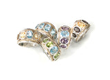 Five Stone Sky Blue Topaz Large Ring