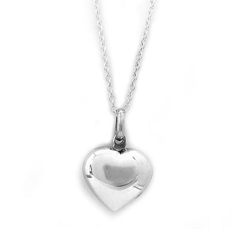 Sterling Silver Opening Heart Locket with Oval Link Chain