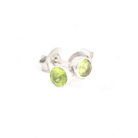 Peridot Tiny Studs (alternative stud for silver double ball earrings)
