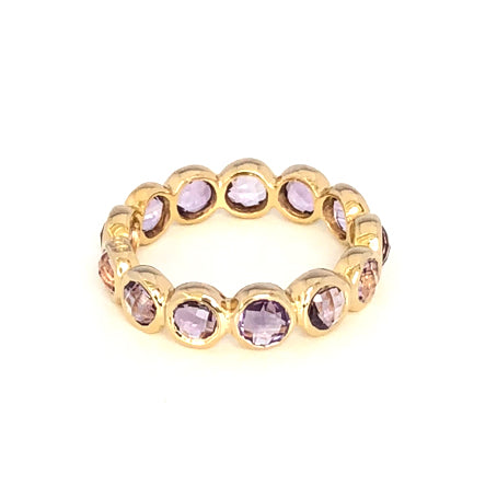 12 Stone Vermeil Ring in Amethyst