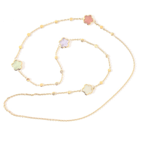 'NEW'  Four Flower Long Necklace
