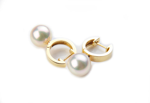 Yellow Gold  (18ct) Pearl Earrings