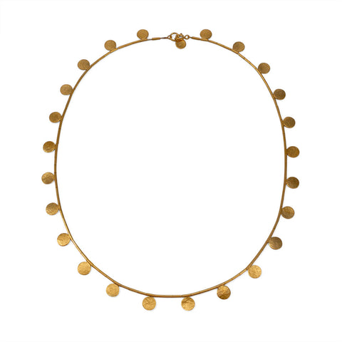 Paillette Disc & Bead Vermeil Necklace