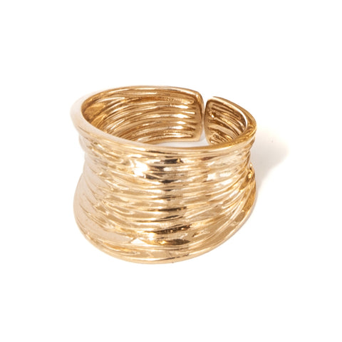 Gold Vermeil Ripple Ring (NEW)