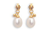 Freshwater Pearl with Gold Ball Vermeil Drop Earrings