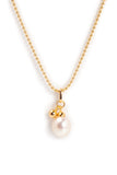 "Freshwater Pearl with Gold Ball Vermeil 16""-18"" Drop Necklace"