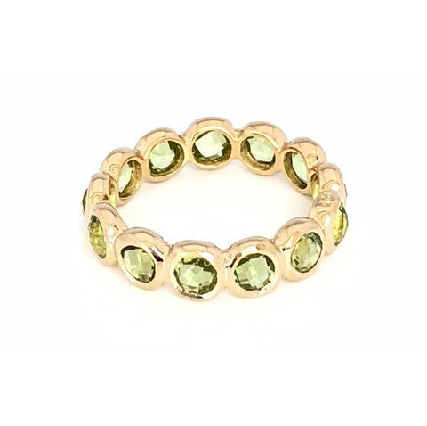 12 Stone Vermeil Ring in Peridot