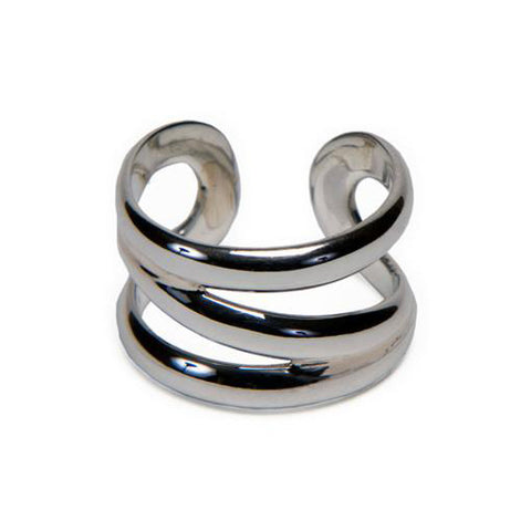 Sterling Silver Z Open Ring