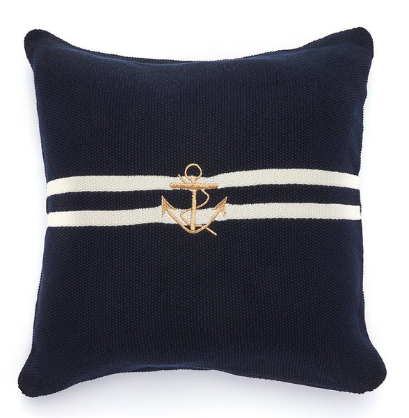 Pure Cotton Knitted Pillow, Ahoy Captain!