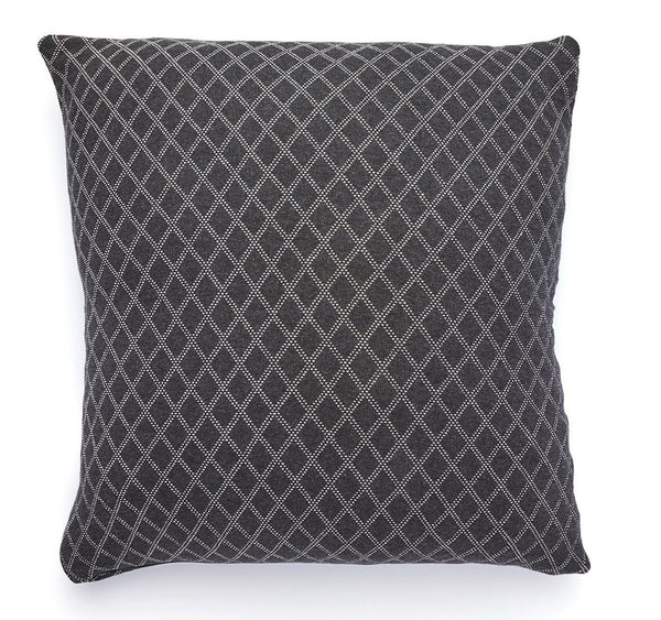 Pure Cotton Knitted Pillow, Diamonds at Sea