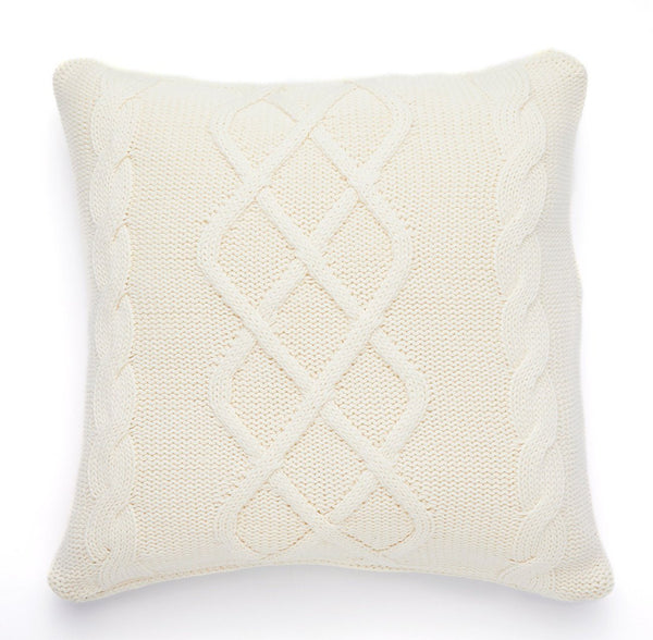 Pure Cotton Knitted Pillow, Whitecaps